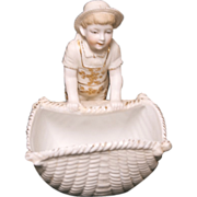 1890's German Adorable Bisque Little Sailor Boy Figurine