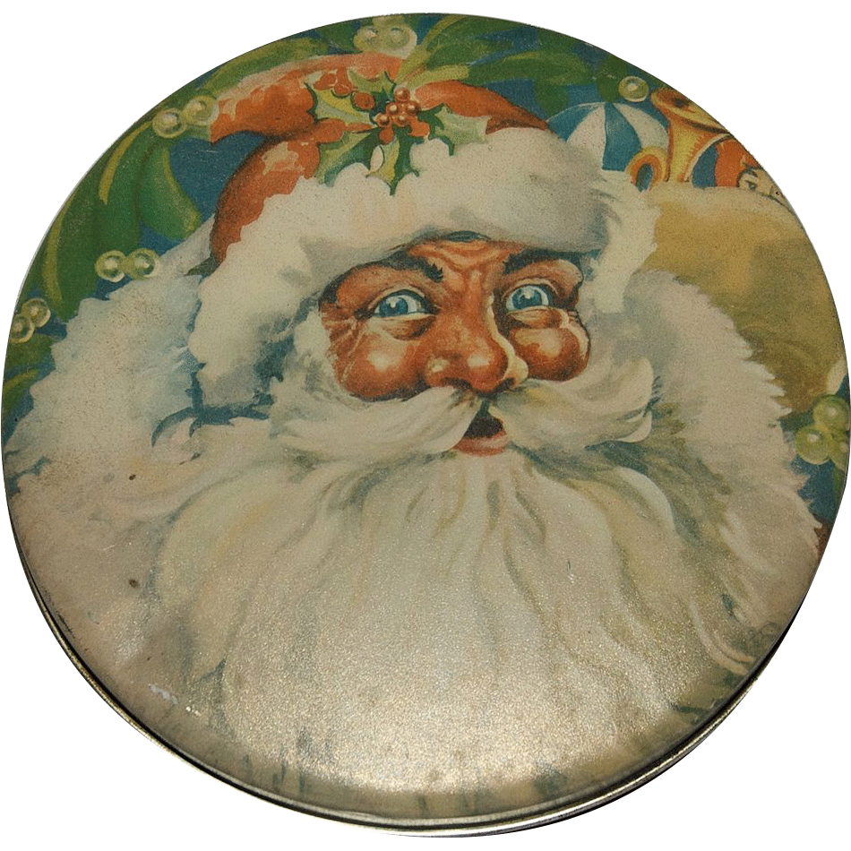 Ho Ho Ho......Merry Christmas!!!!Great Santa Claus Candy / Cookie Tin Box