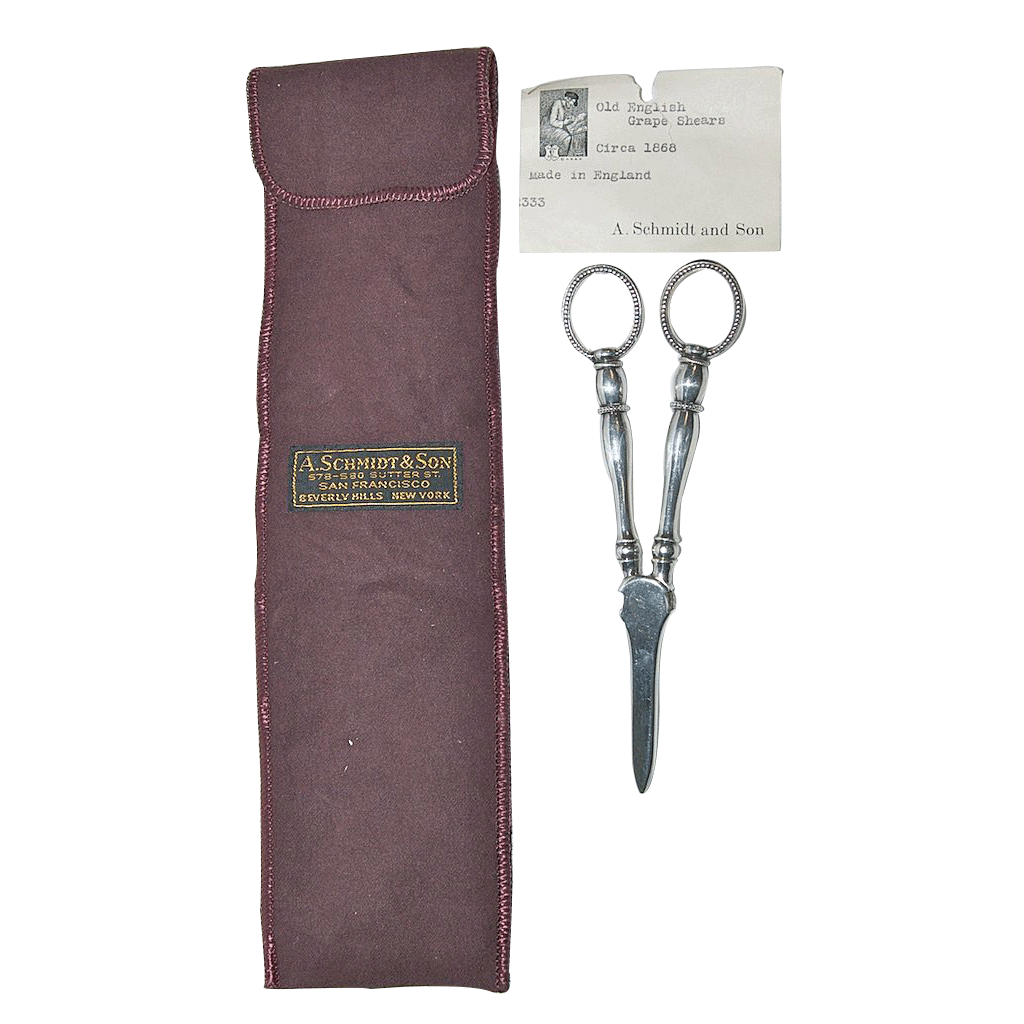 Circa 1868 English Antique Grape Shears