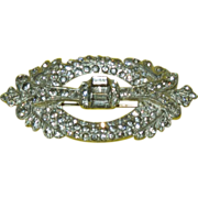 Very Interesting 1920's Dazzler Design Rhinestone Pin