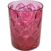 Gorgeous 1890's Victorian Cranberry Inverted Thumbprint Tumbler