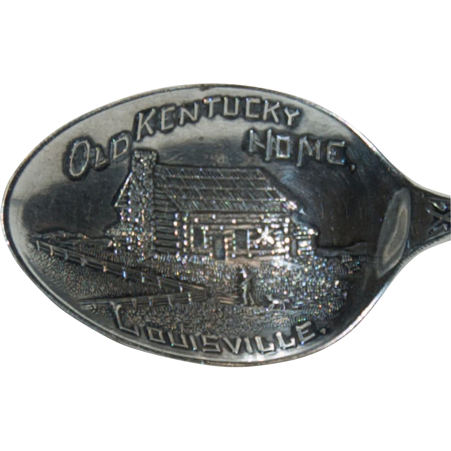 "Sterling Silver Souvenir  Spoon of ""Louisville, Kentucky """