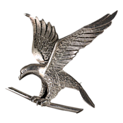 Large Heavy Sterling Eagle Pin / Brooch