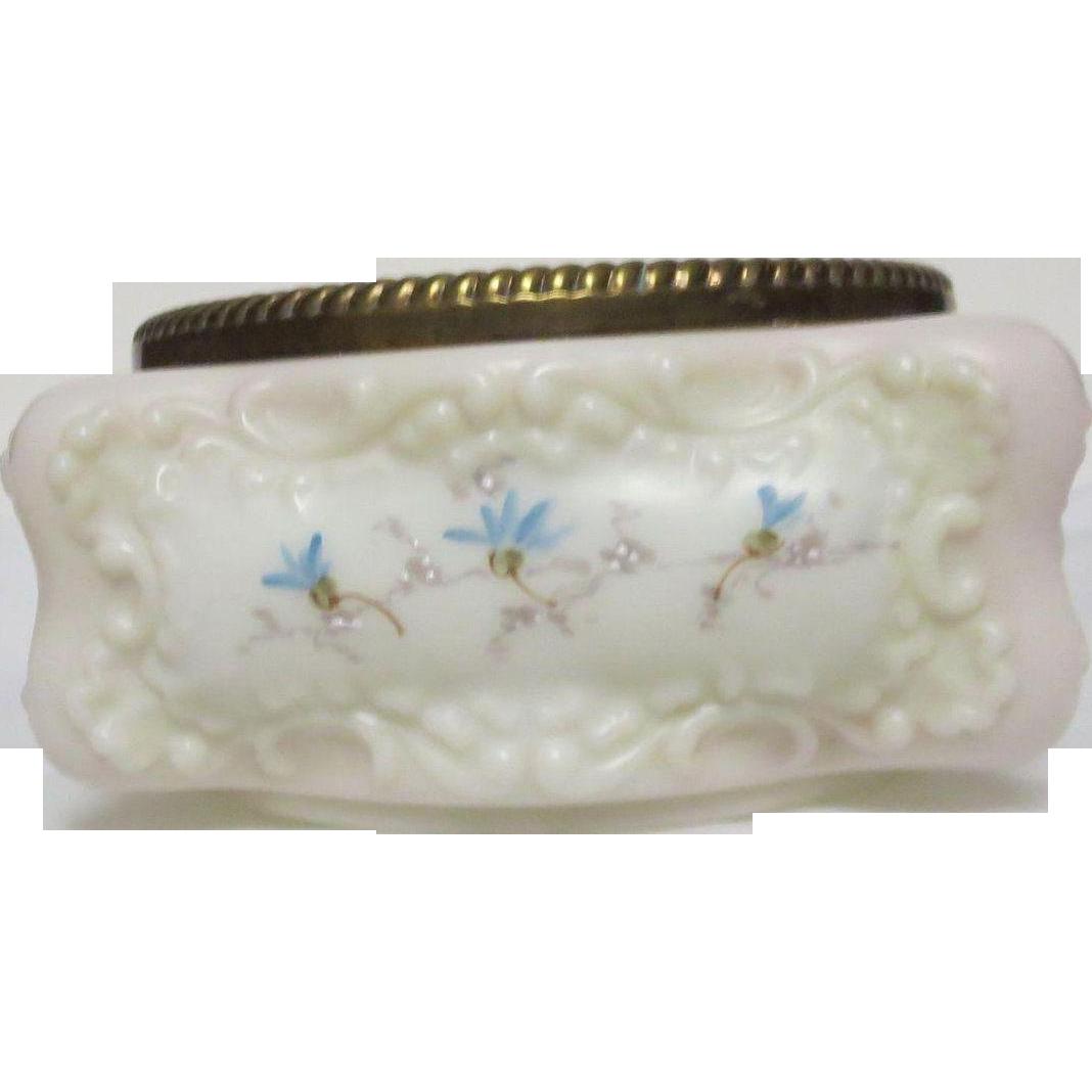 1890's Large Wavecrest Antique Powder Jar
