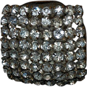 1900's Antique Large Square Shaped Hat Pin w/ Rhinestones