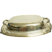 """11 1/2"""" Daffodil SP 1950's Pattern 2 pc Covered Vegtable Dish by 1847 Rogers Bros ( International Silver )"""