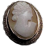 1910's - 1920's Italian Carved Shell Cameo with Gold filled mounting