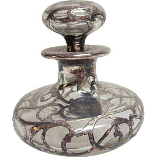 Sterling Silver Overlay Perfume Bottle