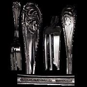 "Rare Flower de Luce aka Fleur de Luce Silverplate Fish Fork 7 1/4"""