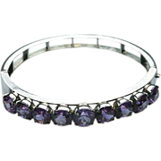 Sterling Synthetic Alexandrite bangle
