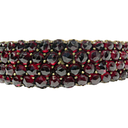 Victorian Garnet bangle--beautiful