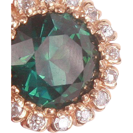 Large Impressive Green Tourmaline & Diamond ring