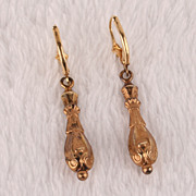 Victorian drop earrings--gold plated