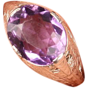 Lovely Art Deco filigree Amethyst ring
