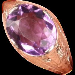 Lovely Art Deco filigree Amethyst ring