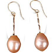 Lovely gold and pearl drop earrings