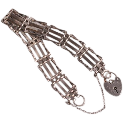 Silver Padlock gate Bracelet
