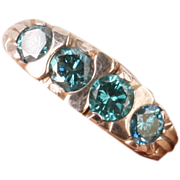 Beautiful Blue Diamond filigree ring