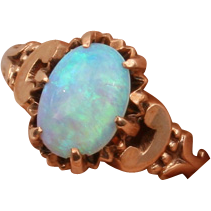 Victorian gold Opal ring