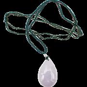 Large lavender Jade pendant