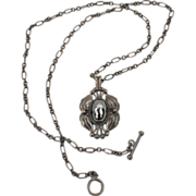 Terrific Georg Jensen Denmark sterling Hematite anniversary c2000 pendant