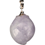 Lavender Jade sterling pendant