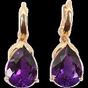 Terrific large Amethyst drop earrings