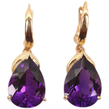 Terrific large Amethyst drop earrings
