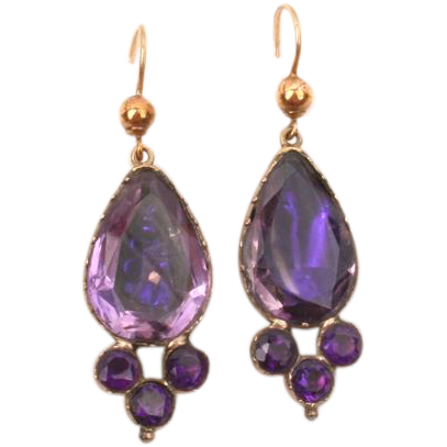 Stunning Purple Paste earrings--rare
