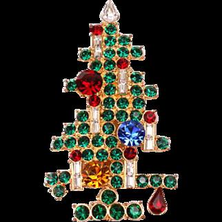 Large Eisenberg Ice signed Christmas tree pin