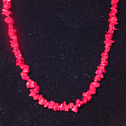 Vintage Blood Red Coral Necklace