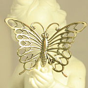 Vintage Sterling Silver Butterfly Pin Brooch