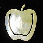 Vintage Tiffany & Co. Sterling Silver Apple Bookmark