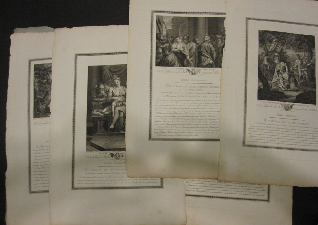 Set of 23 Engravings from Galerie du Palais Royal by J. Couche  Paris France 1786