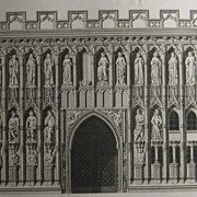 Antique Architecture Print of Cathedral of Exeter England by James Basire 1797