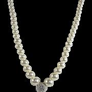 Vintage Swarovski Crystals & Faux Pearls Necklace