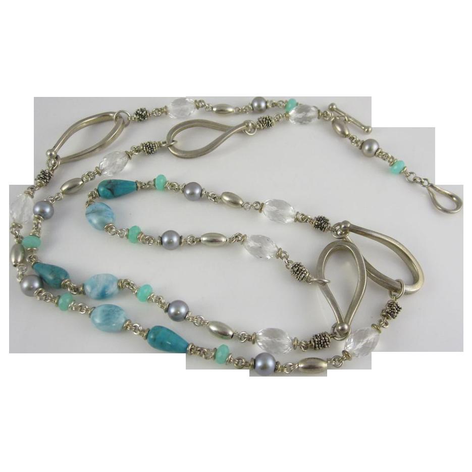 Fantastic Designer Sterling Silver Necklace by Michael Dawkins
