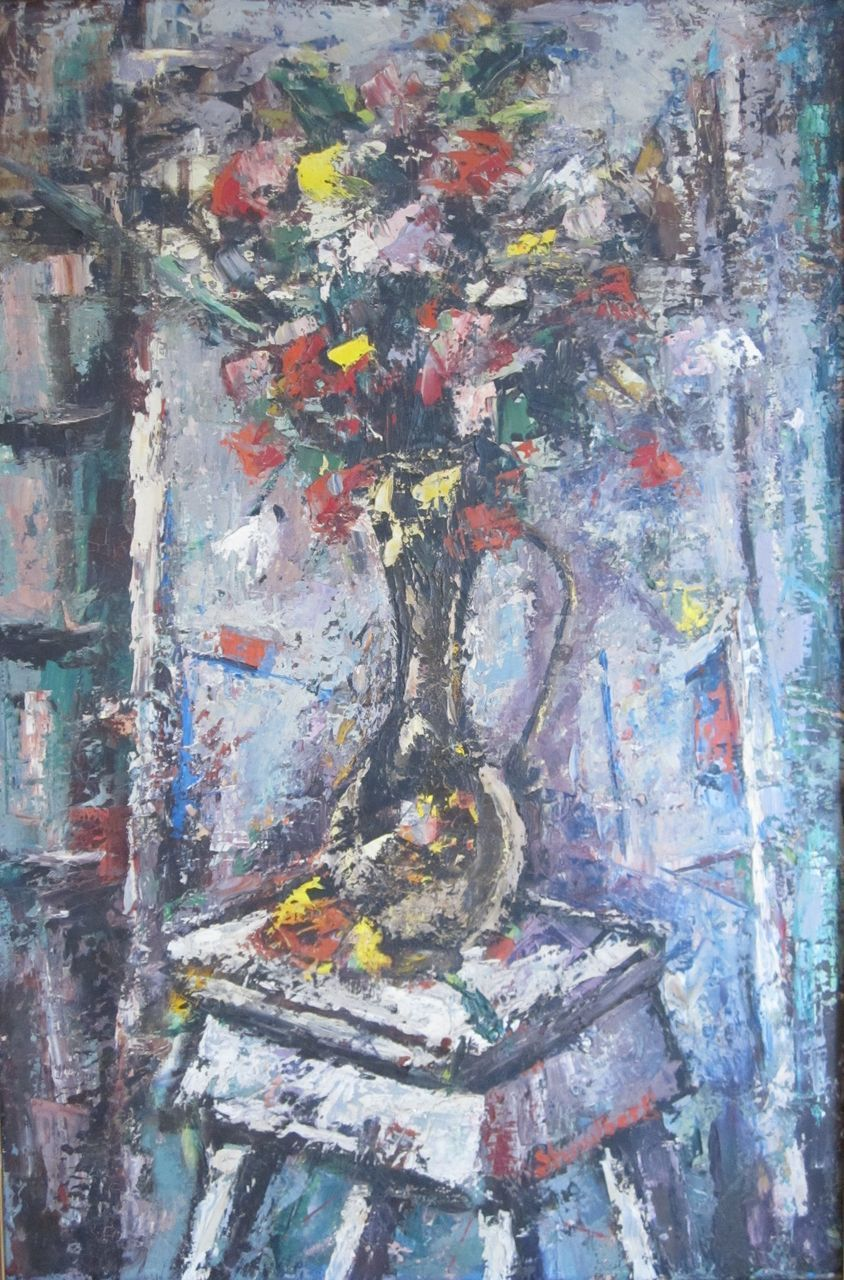 Mid-Century American Still Life Oil Painting Harry Shoulberg  1903-1995