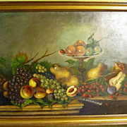 Fantastic American Still Life Oil Painting 1889