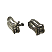 Georg Jensen Alphonse La Paglia 925 Sterling Flower Earrings