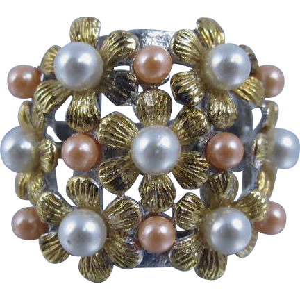 Vintage 1980s Sterling Silver Flower Ring