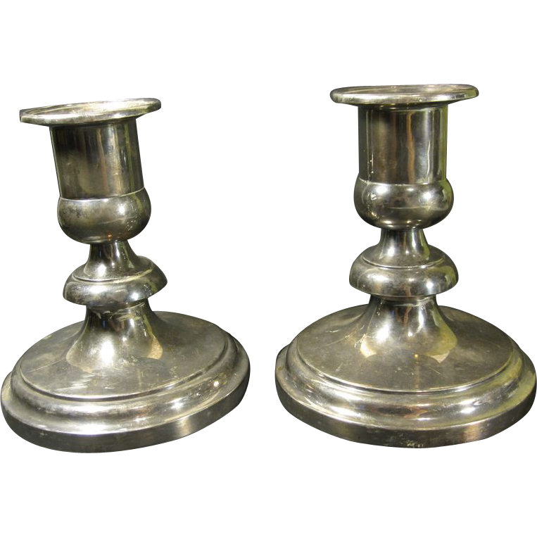 French Silverplate Christofle Hurricane Lamps France
