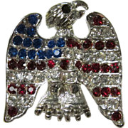 Vintage American Flag Eagle Brooch Pin