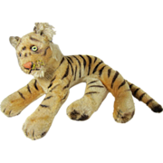 Vintage 1950s Stieff Stuffed Tiger Germany 1950s