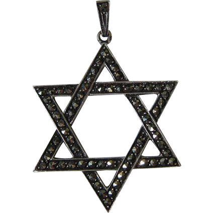 Vintage Sterling Silver Jewish Star of David Pendant