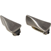 Modernist Design Georg Jensen Sterling Silver Clip-On Earrings # 116 B Denmark
