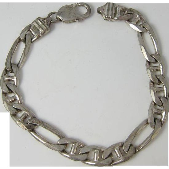 Vitnage 1980s Sterling Silver Italian Chain Bracelet