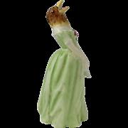 Vintage Royal Worcester Porcelain Candle Snuffer Jenny Lind Confidence England