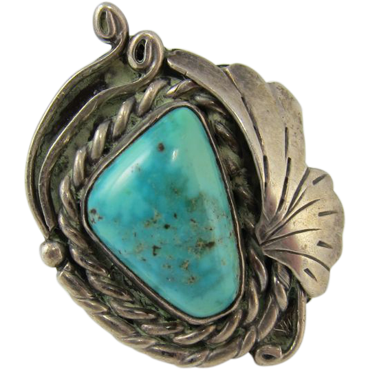vintage pawn south western sterling silver turquoise