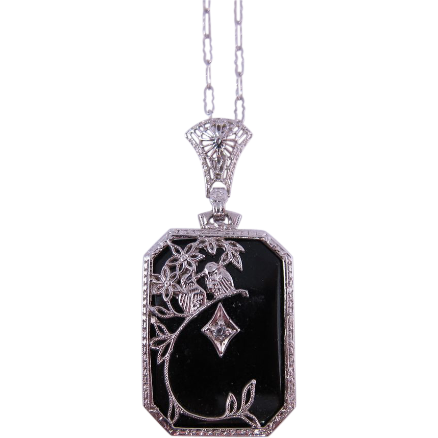 Silver pendant - Sterling Silver and Onyx Ring
